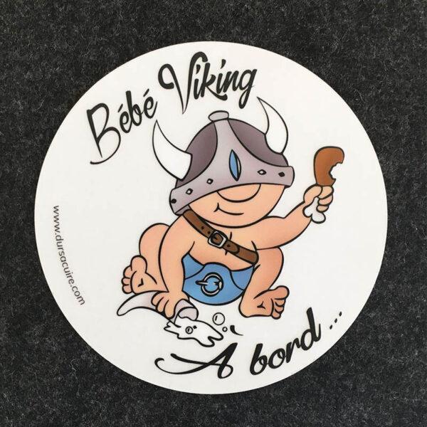 Stickers bébé viking à bord - Durs à Cuire