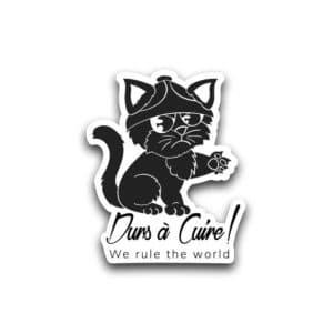Sticker chat - Autocollant - Durs à Cuire