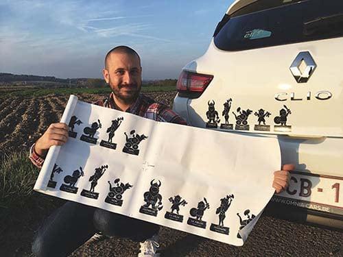 autocollants voiture stickers viking famille dessin humour - Durs à Cuire
