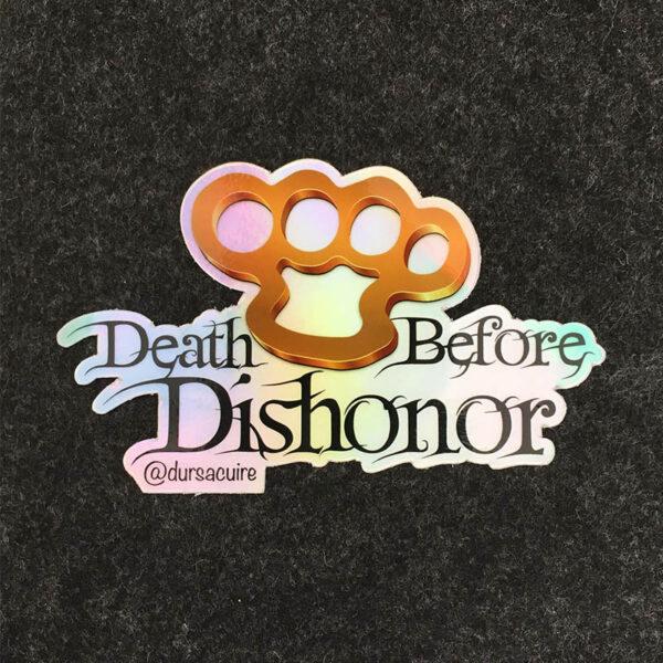 Sticker Poing Américain - Death Before Dishonor de la marque Durs à Cuire